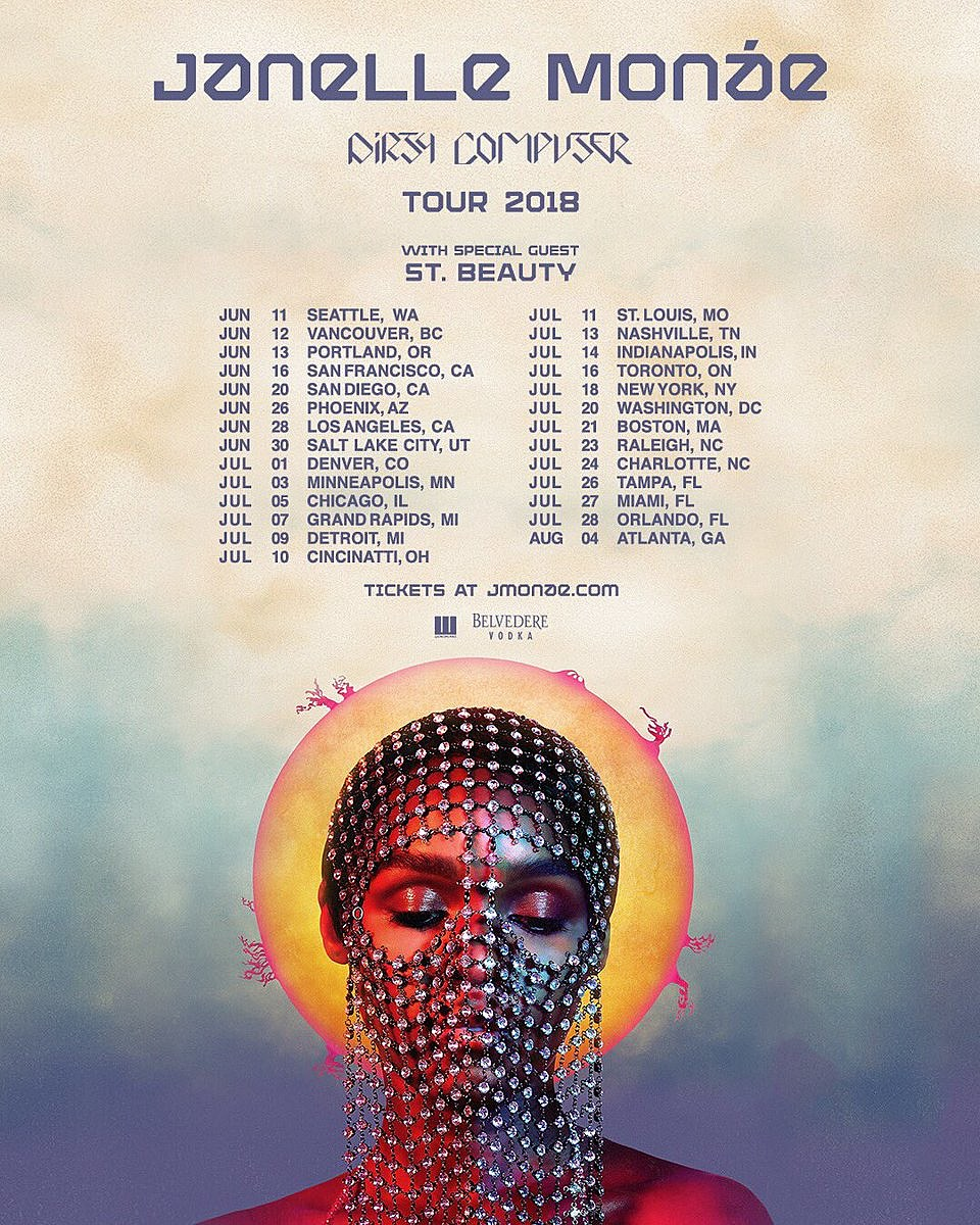 "Dirty Computer Janelle Monáe: Janelle Monae Announces 'Dirty Computer' Tour, Shares ""I"