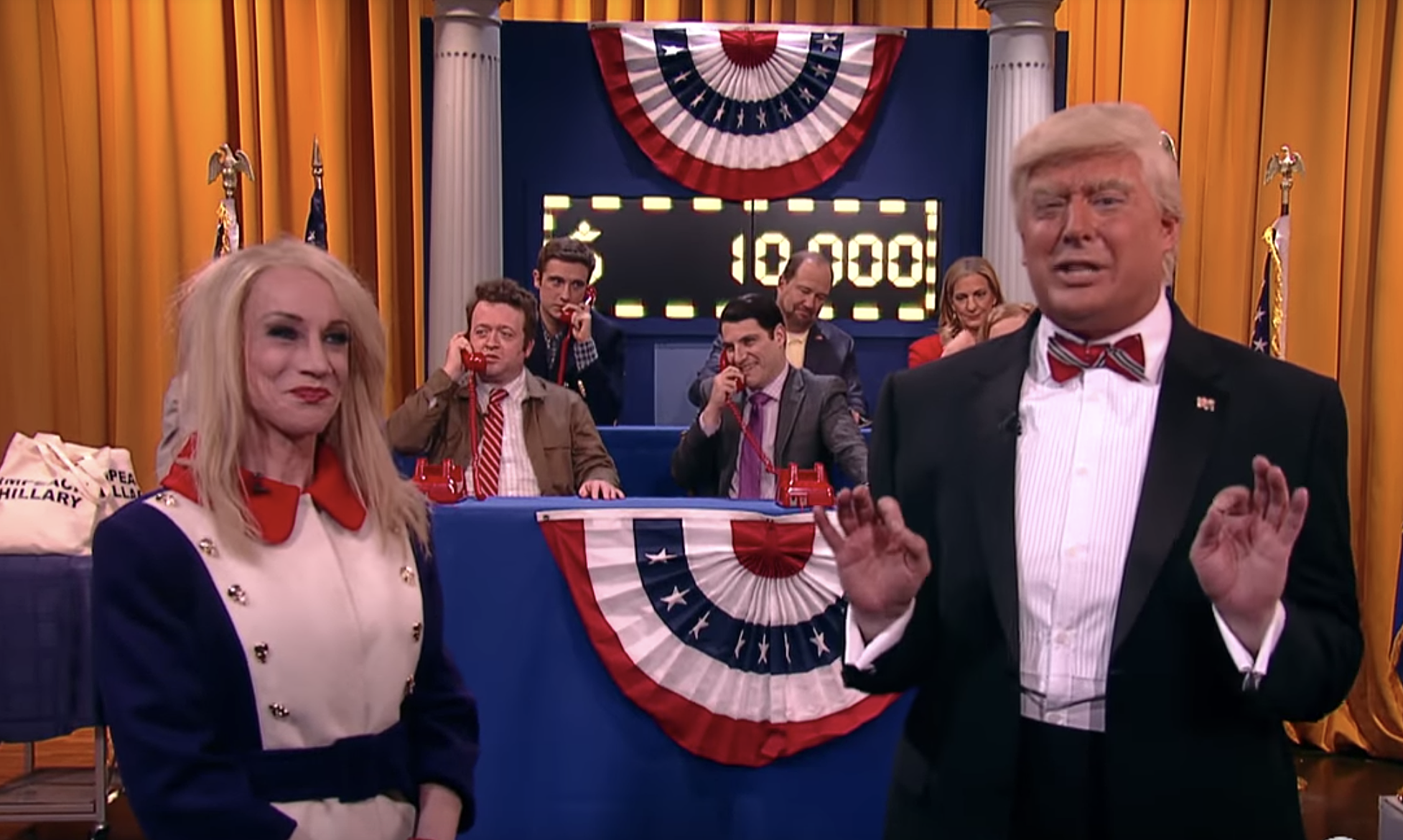 Kathy Griffin and Anthony Atamanuik on Comedy Central's 'Make America Great-a-Thon'