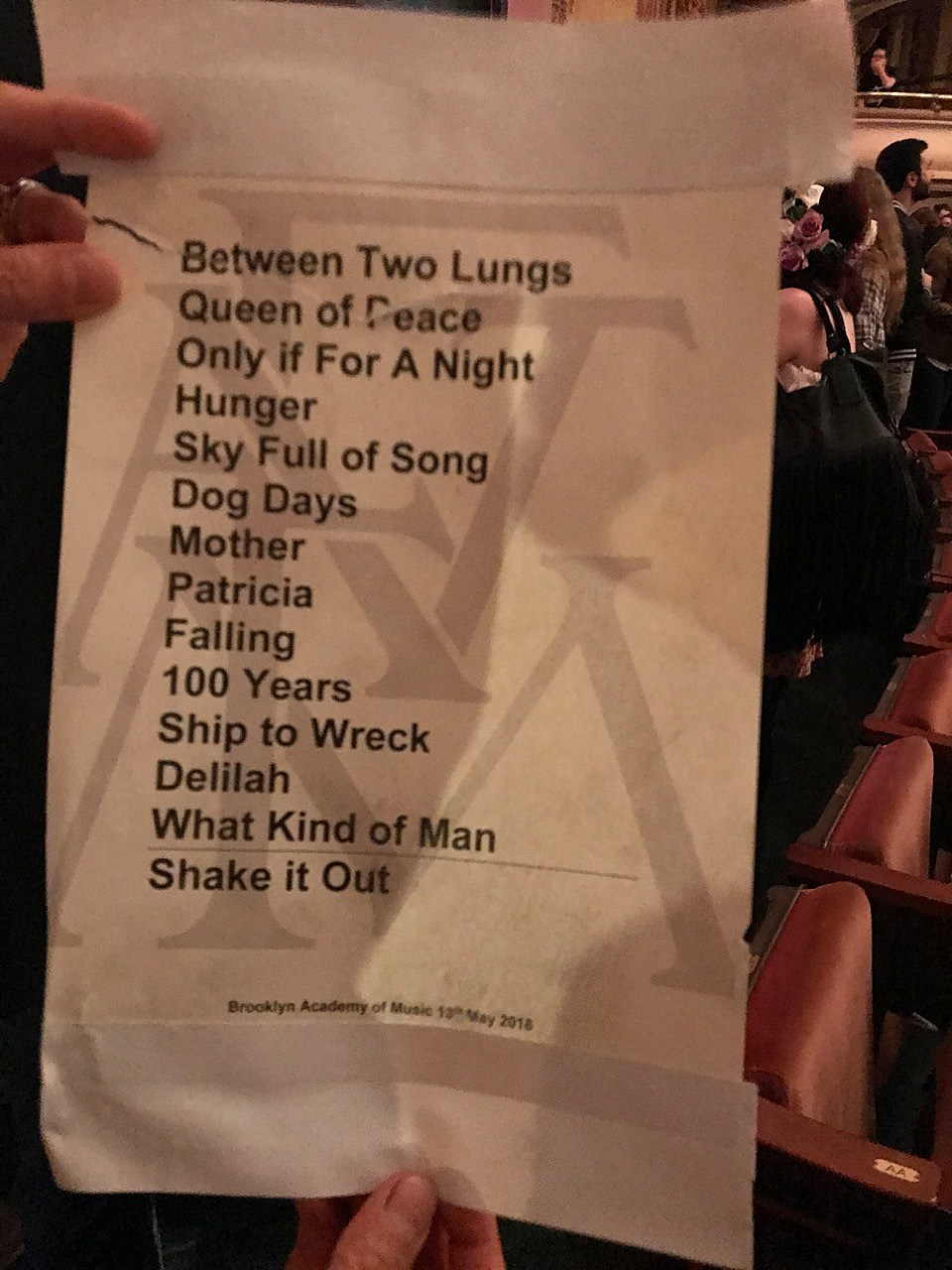Florence + The Machine BAM setlist