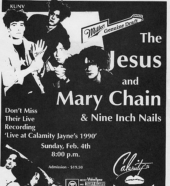 People did have to stand in line for tickets to this 1990 show with JAMC and openers NiN.