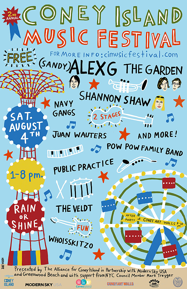 Sandy) Alex G, Shannon Shaw & more playing free Coney Island