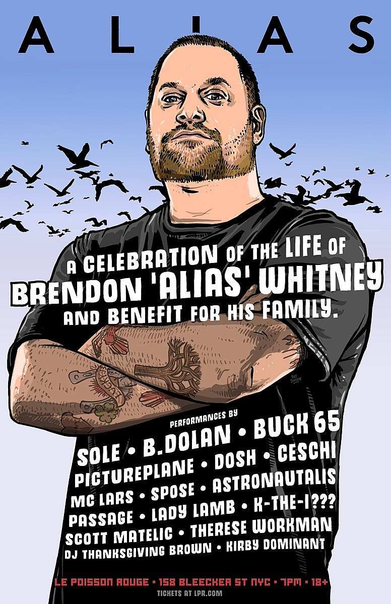 Anticon founder Brendon 'Alias' Whitney (RIP) tribute in NY