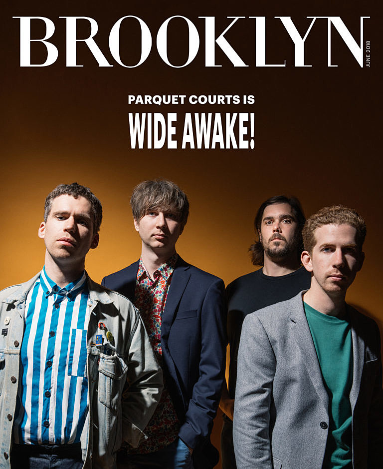 Parquet Courts on the cover of June 2018 issue of Brooklyn Mag