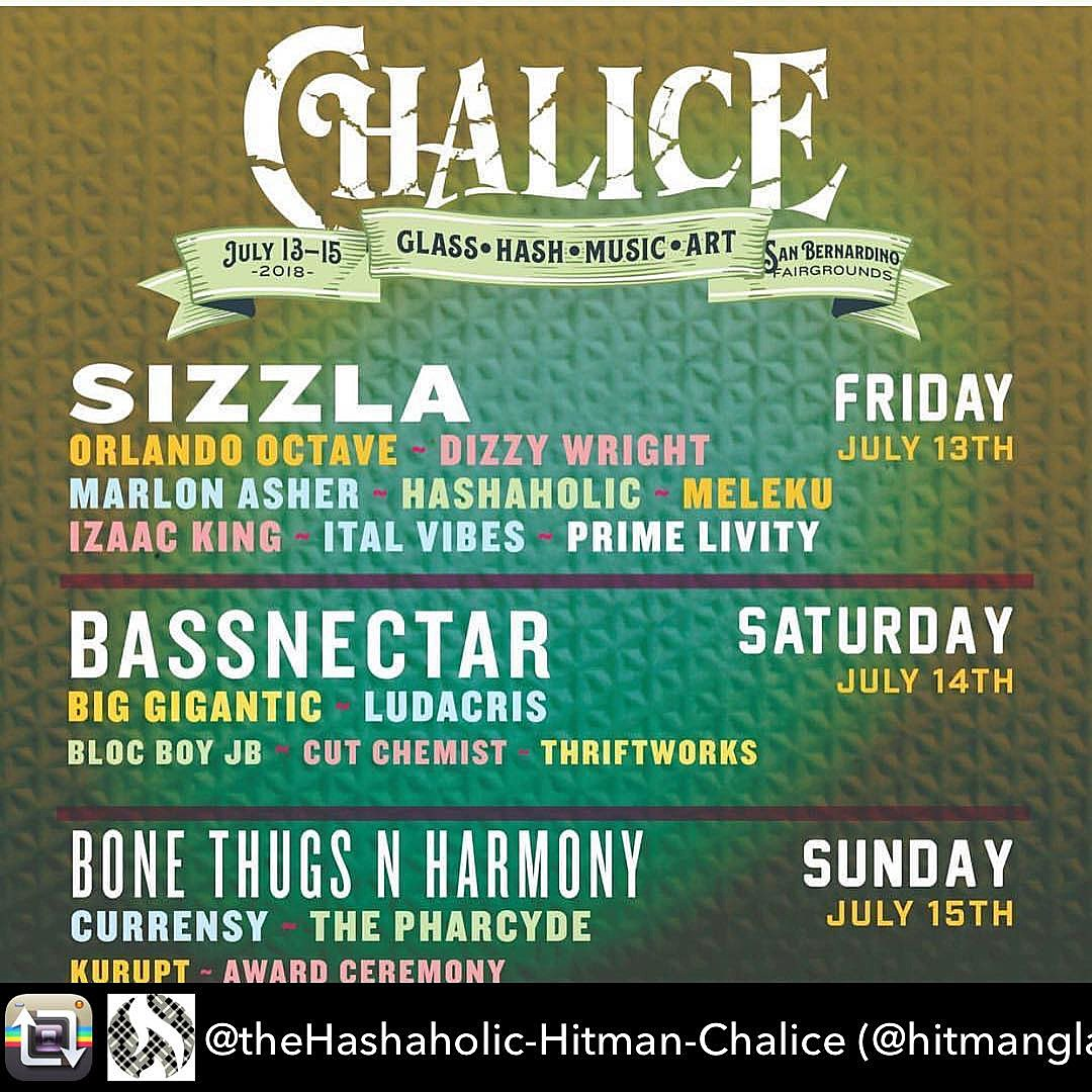 Chalice Festival Daily Lineup 2018