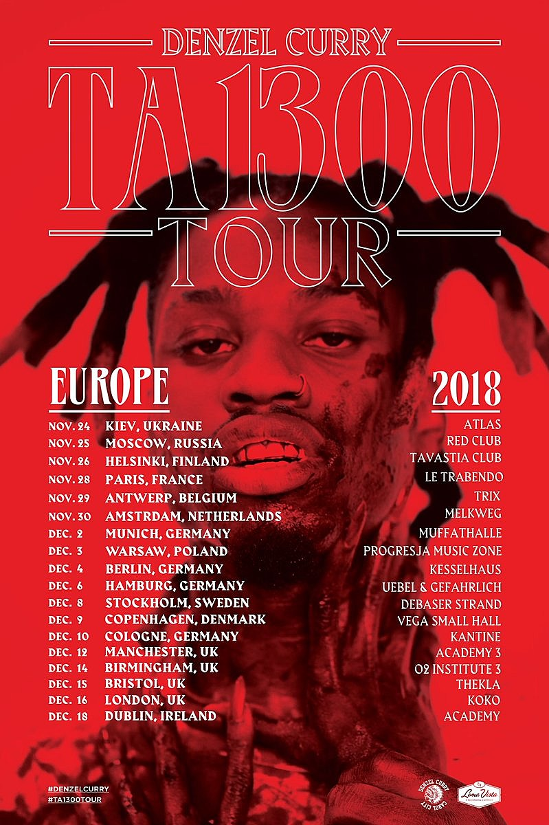 Denzel Curry tour