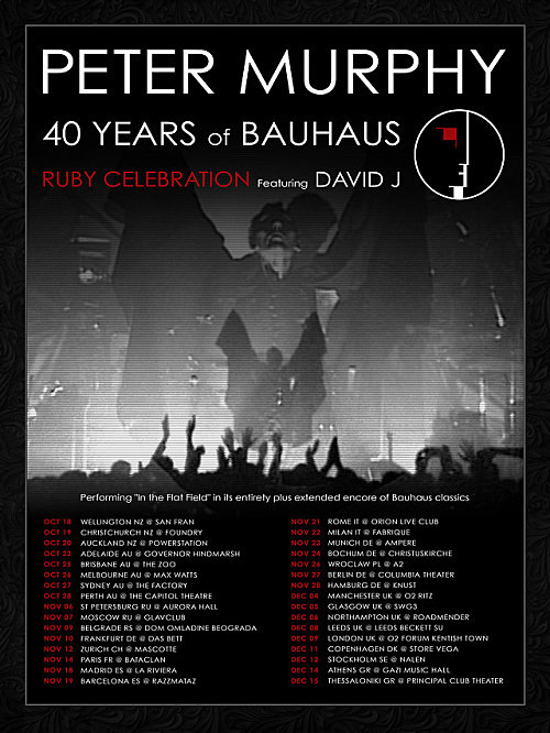 Bauhaus 40th anniversary tour