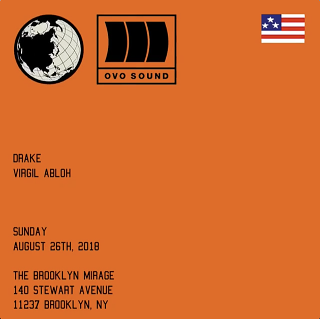 Drake and Virgil Abloh throwing NYC party at Brooklyn Mirage