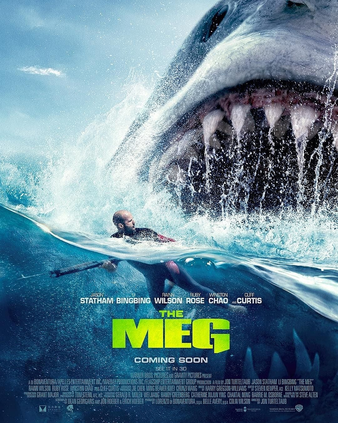 The Meg: one of the few films that Moviepass users can see today with the service.