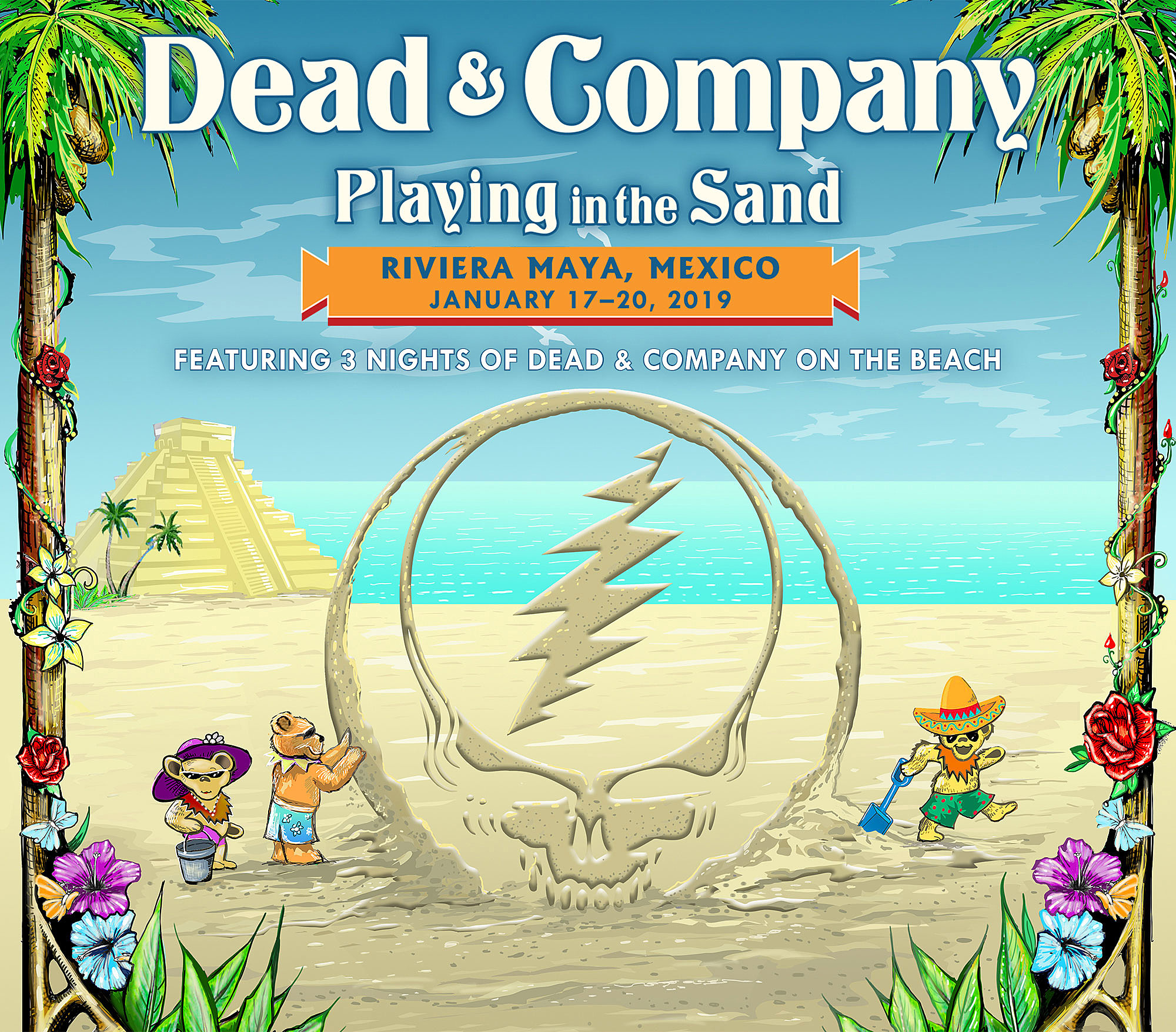 dead co announce playing in the sand 2019 bob weir expands trio tour. Black Bedroom Furniture Sets. Home Design Ideas