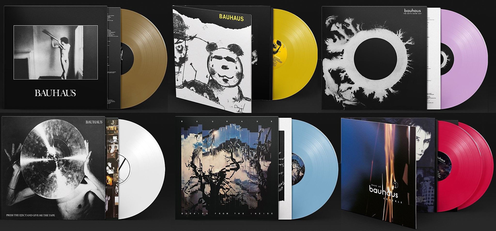bauhaus 40th anniversary colored vinyl reissues due this fall. Black Bedroom Furniture Sets. Home Design Ideas