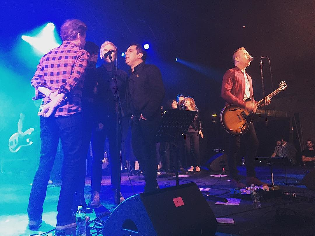 """Ted Leo, Matthew Caws, Mac McCaughan & more at """"Flip These Houses"""" (photo: @essceeohteetee)"""