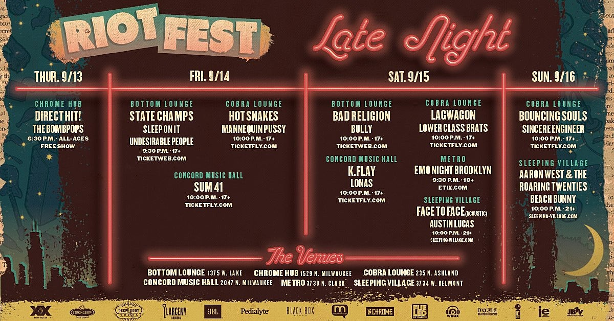 Riot Fest Late Night