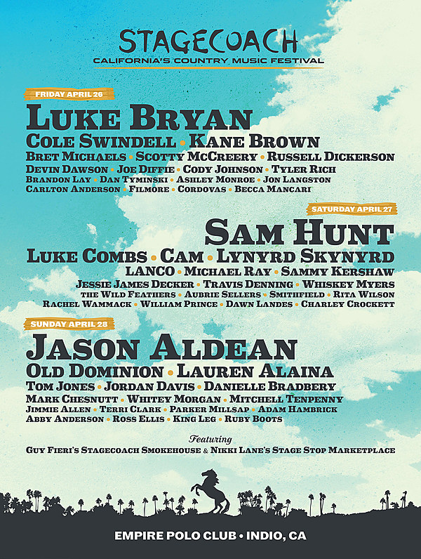 Stagecoach Fest: 2019 lineup tickets
