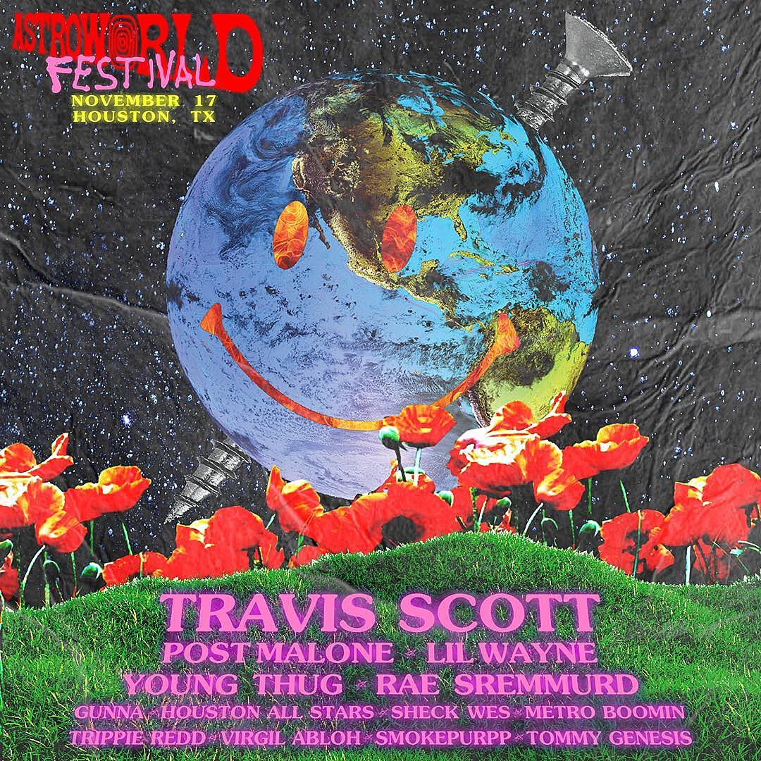 9d3ba593c0d4 Travis Scott's Astroworld lineup (Post Malone, Lil Wayne, Young Thug, Sheck  Wes, more)