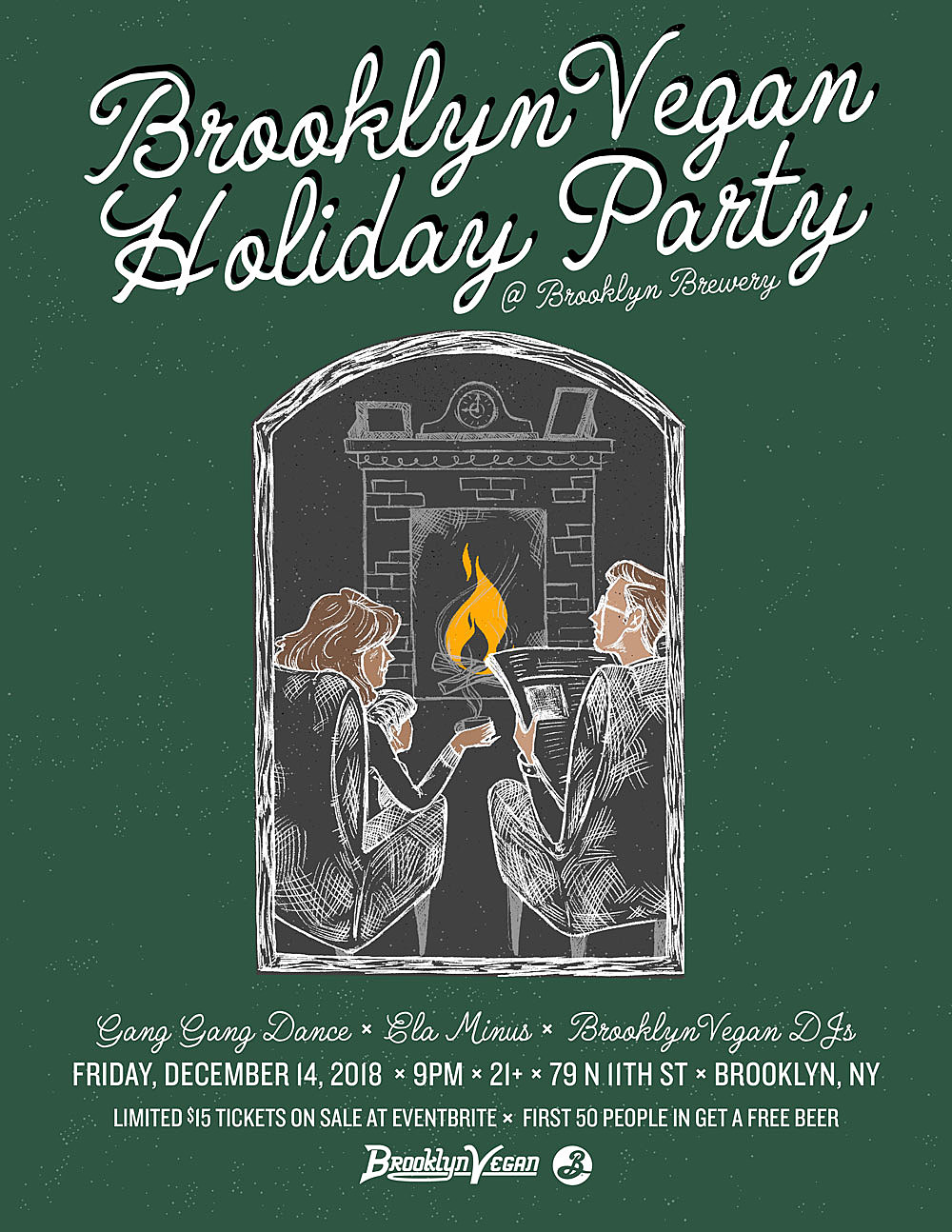 BrooklynVegan holiday party flyer