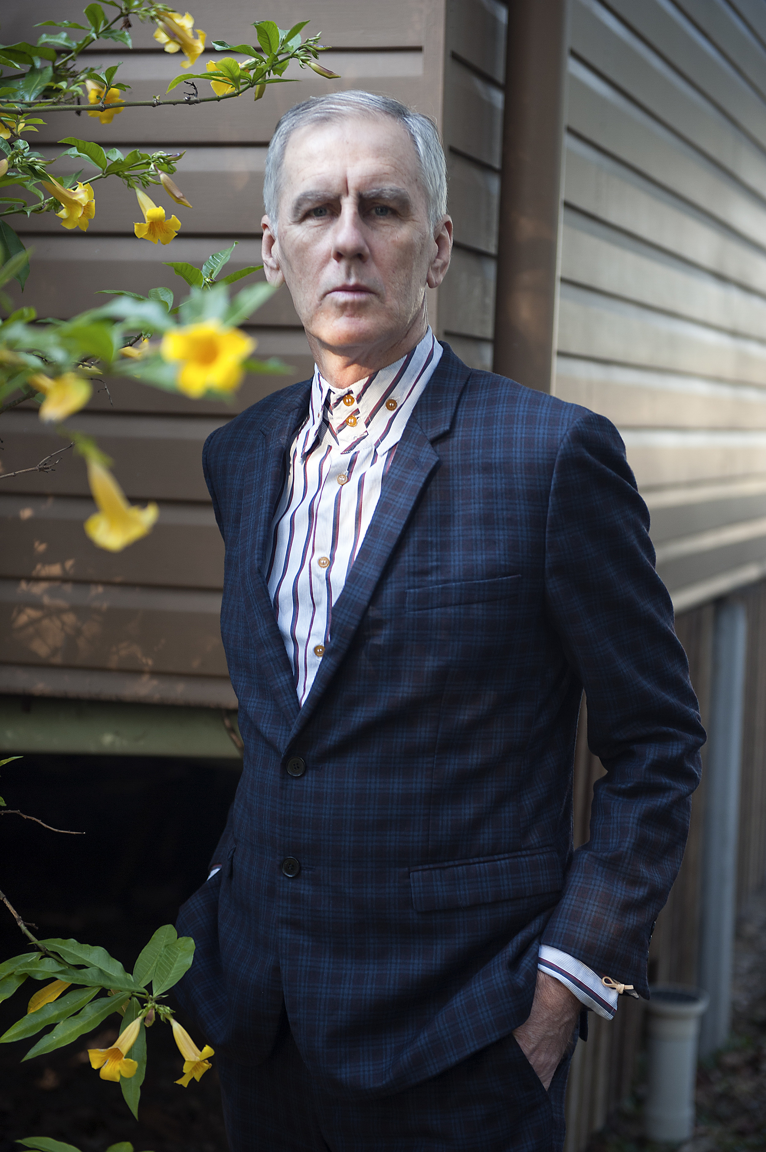 Robert Forster photographed in Caloundra, Queensland, on 26 September 2018 by Bleddyn Butcher