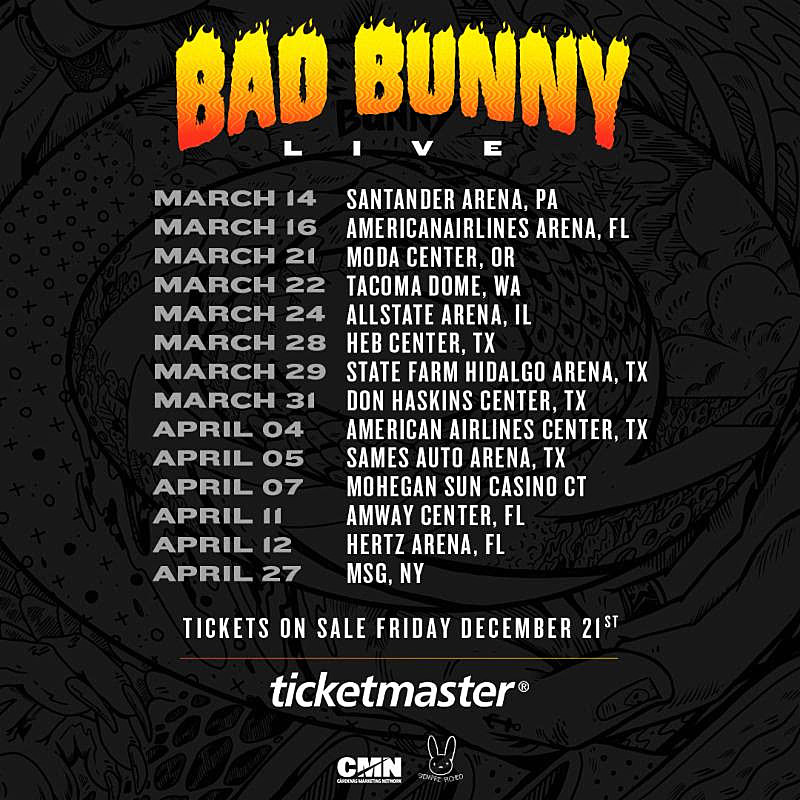 Bad Bunny Announces 2019 Us Tour Including Msg