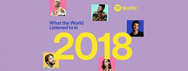 Spotify reveals 2018's most streamed artists, albums, tracks