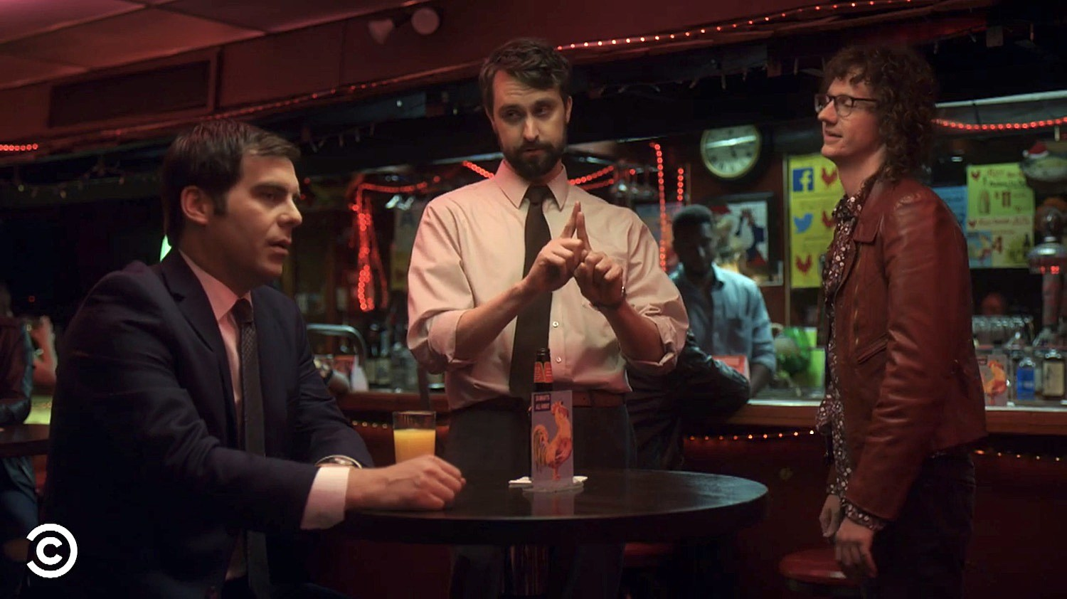 "Jake, Matt and Todd (Chris Fleming) in ""The Concert"" episode"