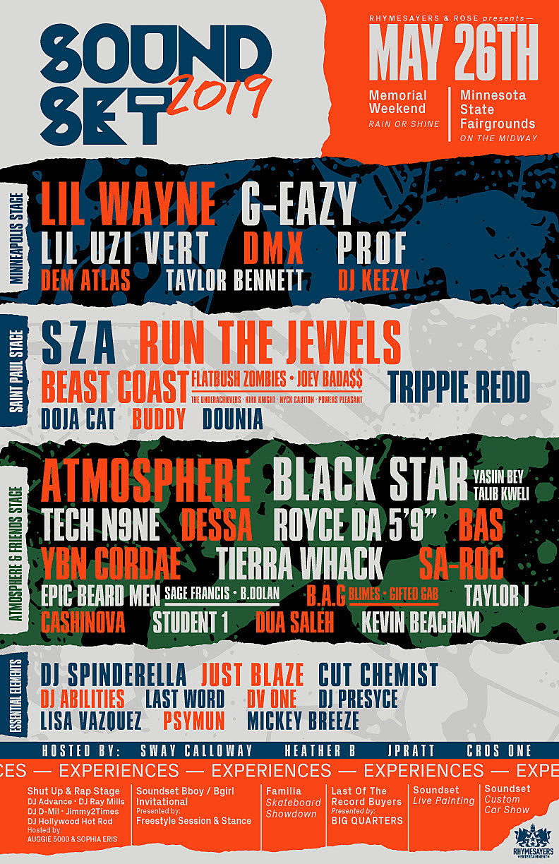 Sza Tour 2020 Soundset 2019 lineup: Run the Jewels, SZA, Black Star, Lil Wayne