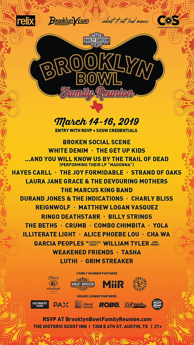 Brooklyn Bowl Family Reunion 2019 SXSW poster