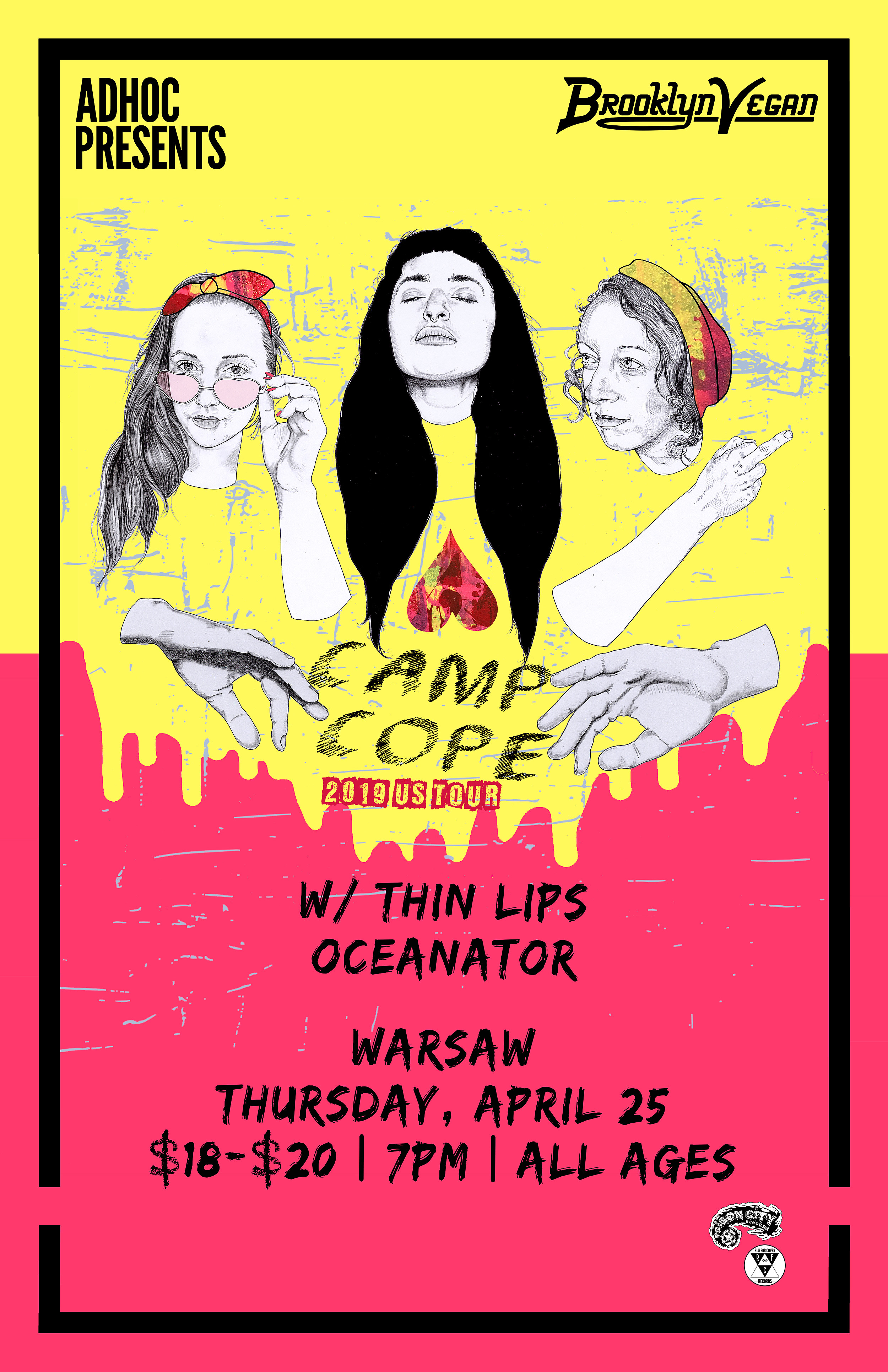 Camp Cope at Warsaw flyer
