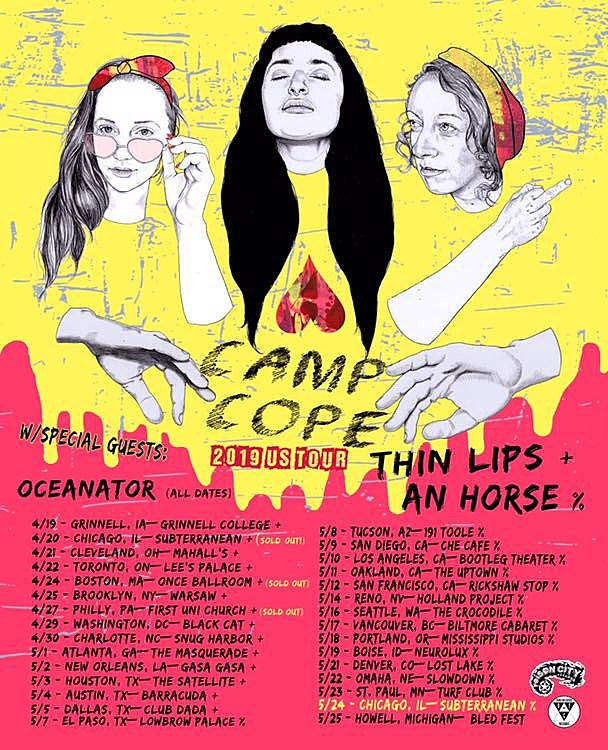 Camp Cope 2019 tour w/openers