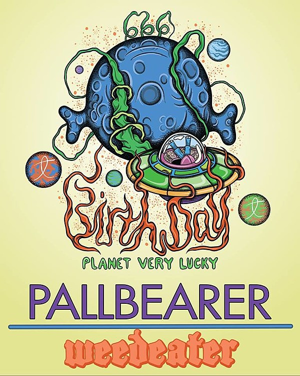 Pallbearer performing 'Sorrow and Extinction' in Philly with Weedeater