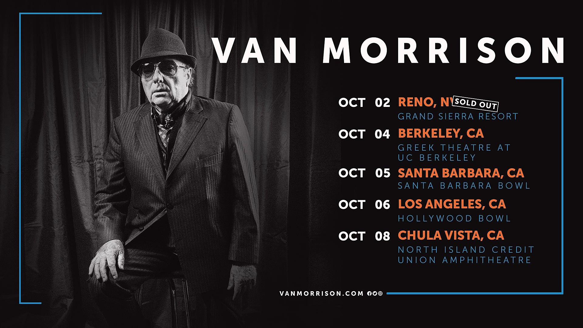 Van Morrison Touring The West Coast This Fall, Playing