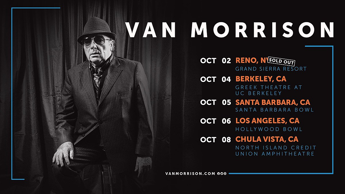 Van Morrison touring the West Coast this fall, playing Hollywood Bowl