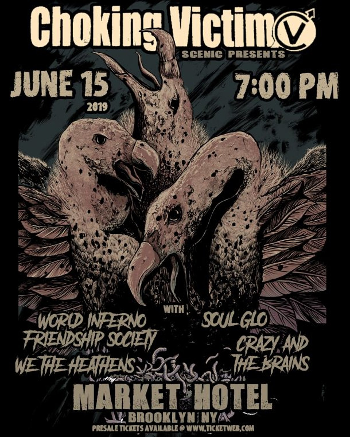 Choking Victim add 2nd NYC show with World/Inferno more