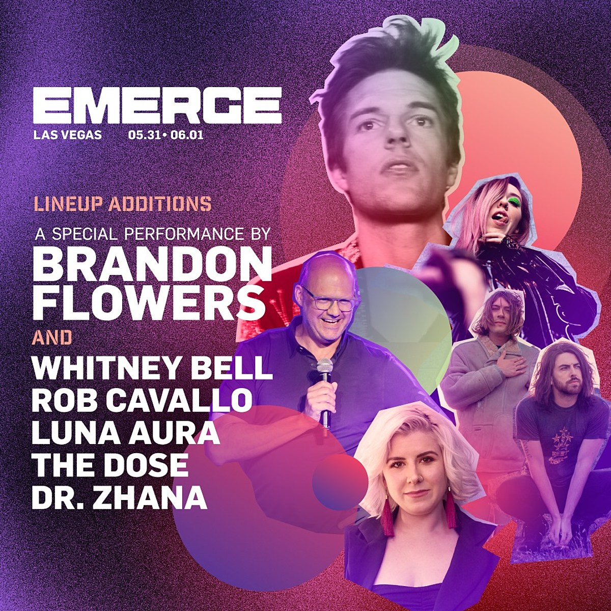 Brandon Flowers, Emma Gonzalez more added to Emerge 2019 lineup