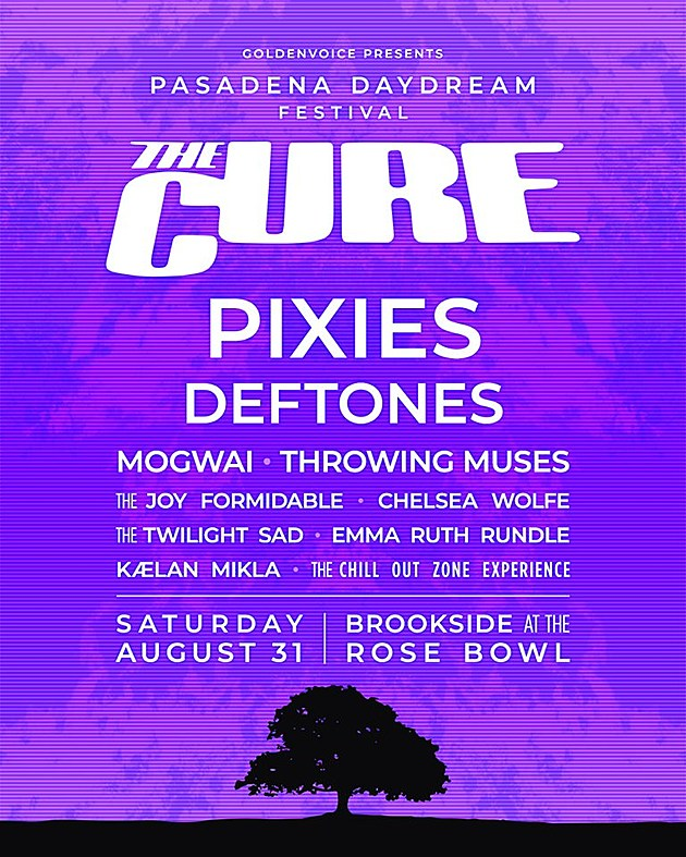 The Cure announce Pasadena Daydream fest w/ Pixies, Deftones