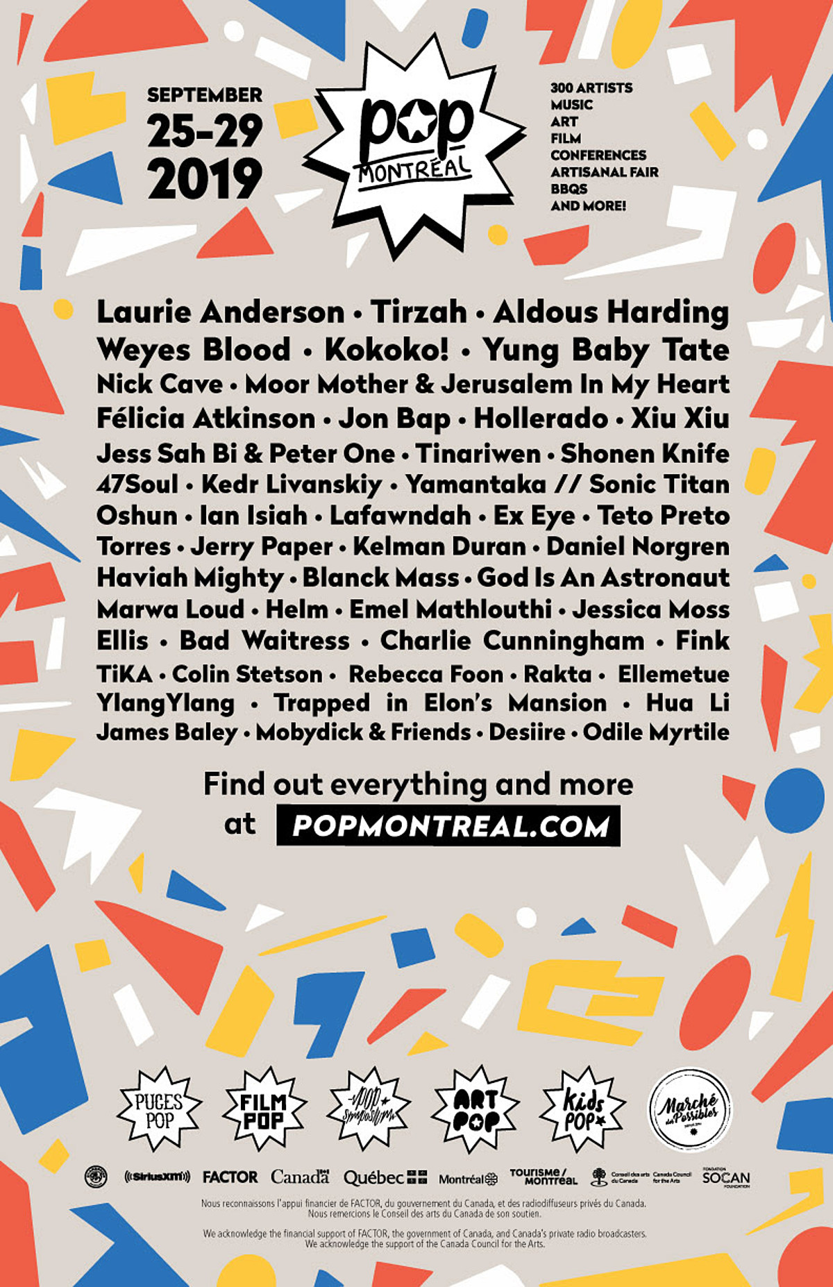 Pop Montreal: 2019 lineup (Nick Cave, Weyes Blood, Laurie Anderson, more)
