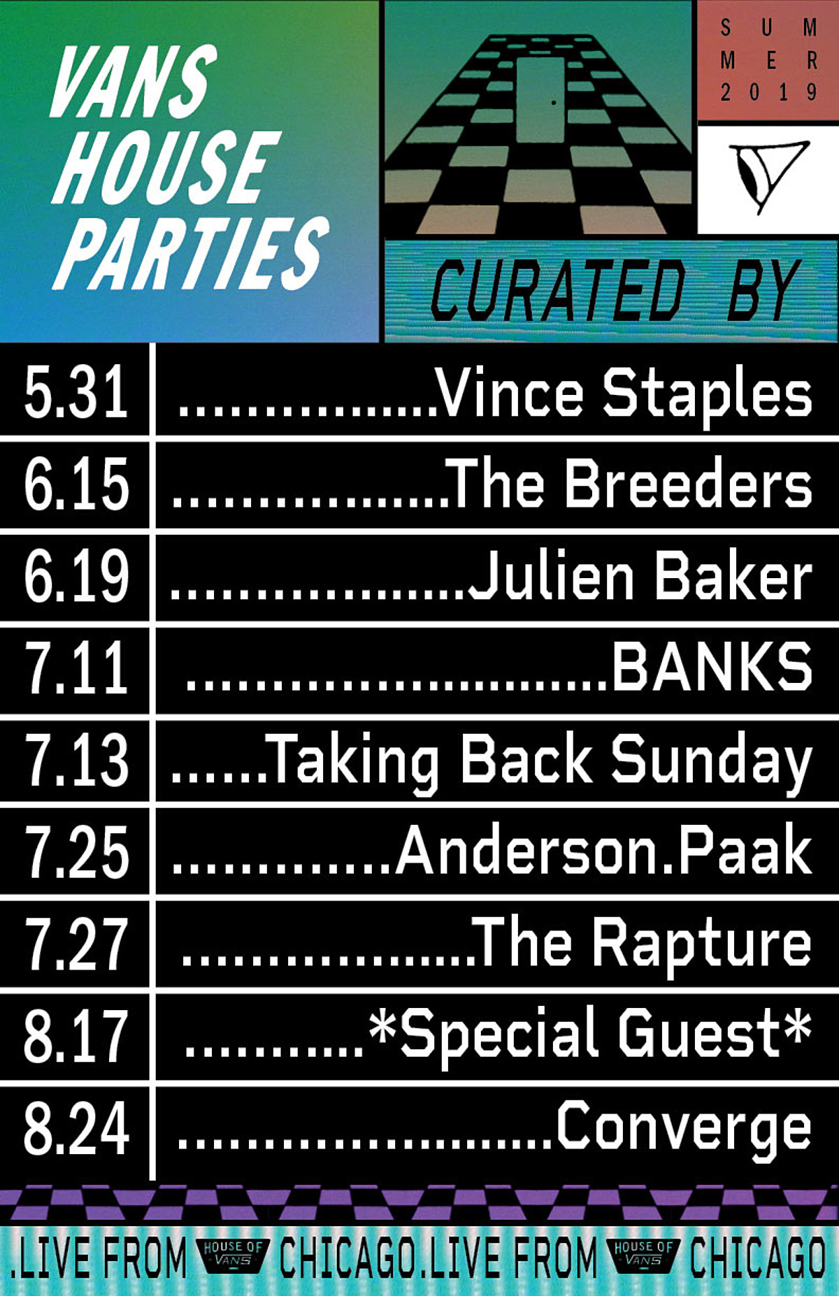 House of Vans Chicago 2019 free shows (Converge, The Rapture, The Breeders, more)