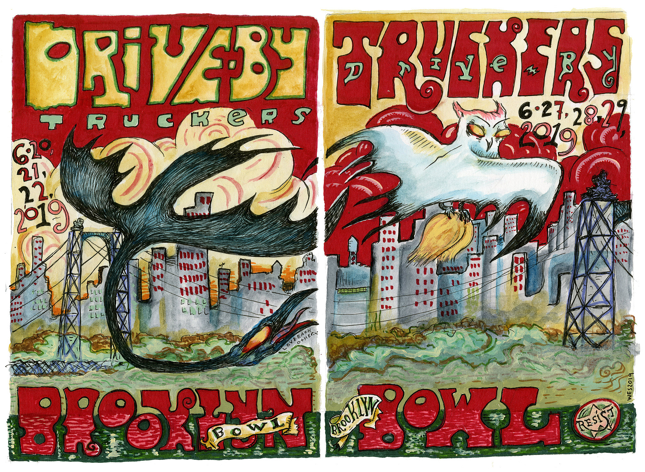 Drive By Truckers Brooklyn Bowl poster