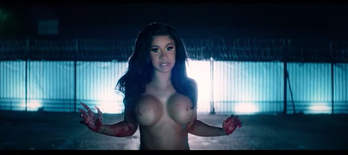 "Cardi B's new ""Press"" video: tons of nudity, mass murder, the works"
