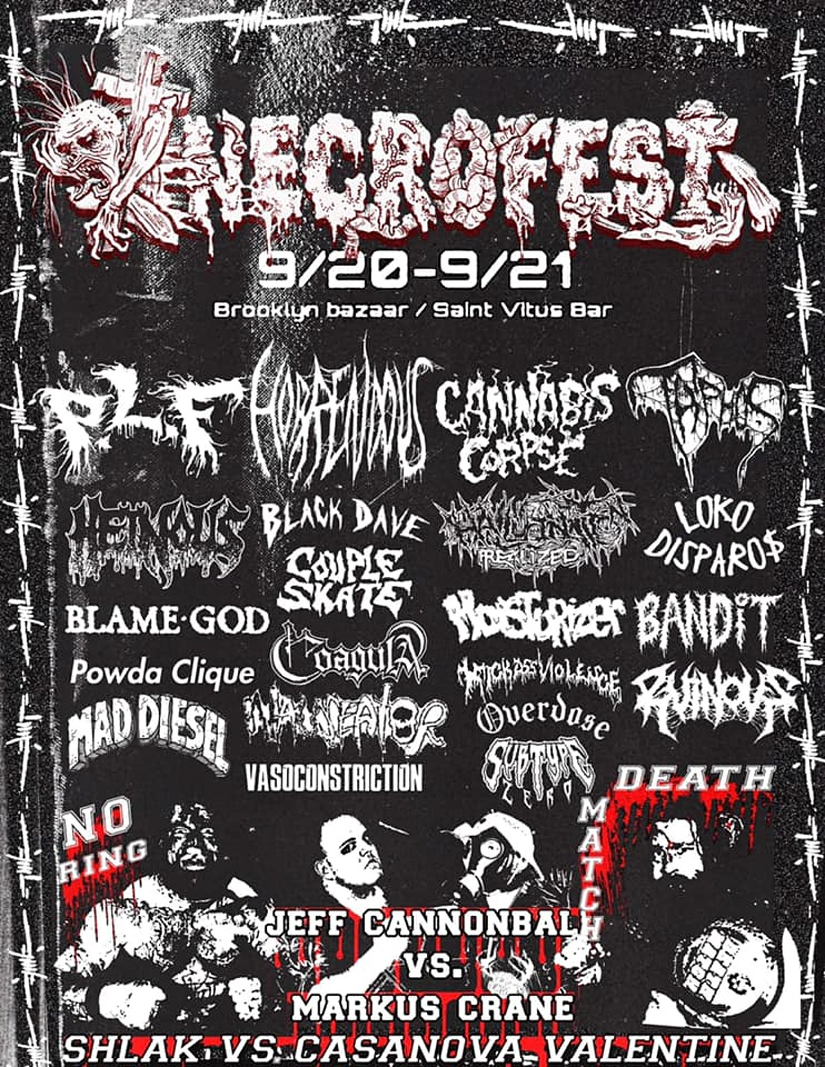 PLF, Cannabis Corpse, Horrendous more playing NYC's inaugural Necrofest