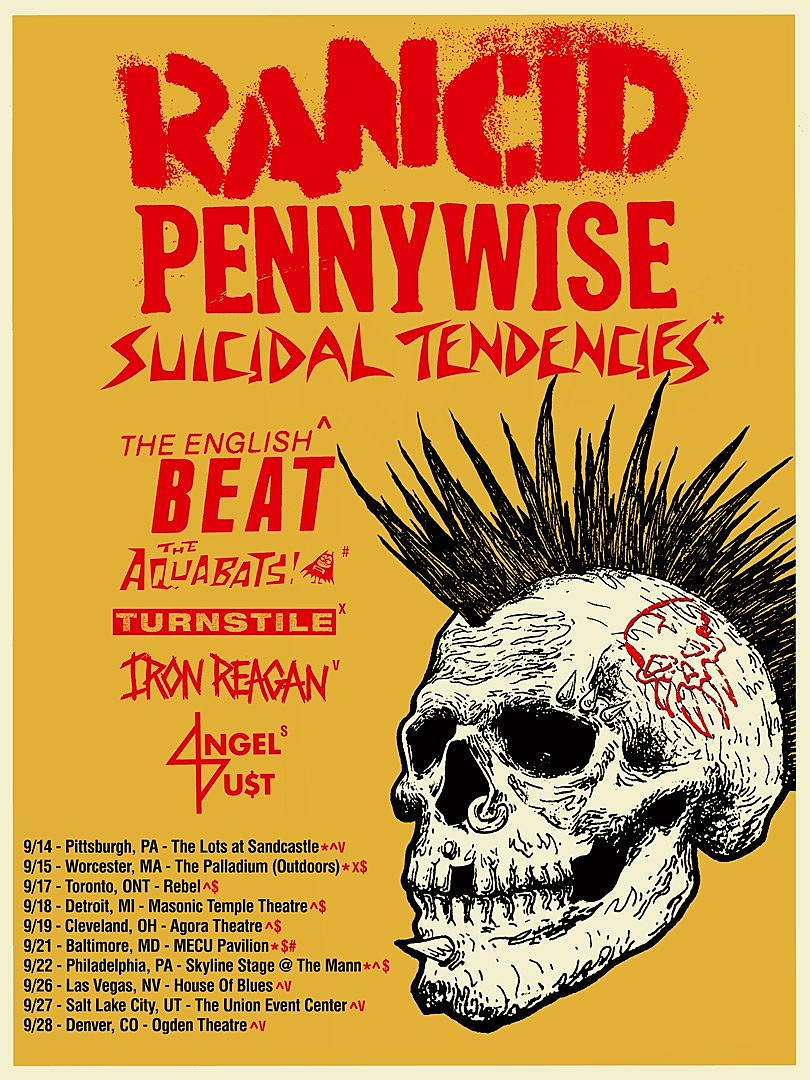 Rancid Pennywise tour