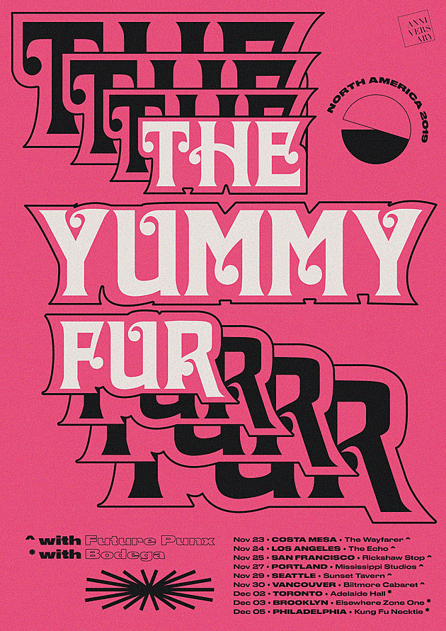 The Yummy Fur_North America tour poster_A4 DIGITAL