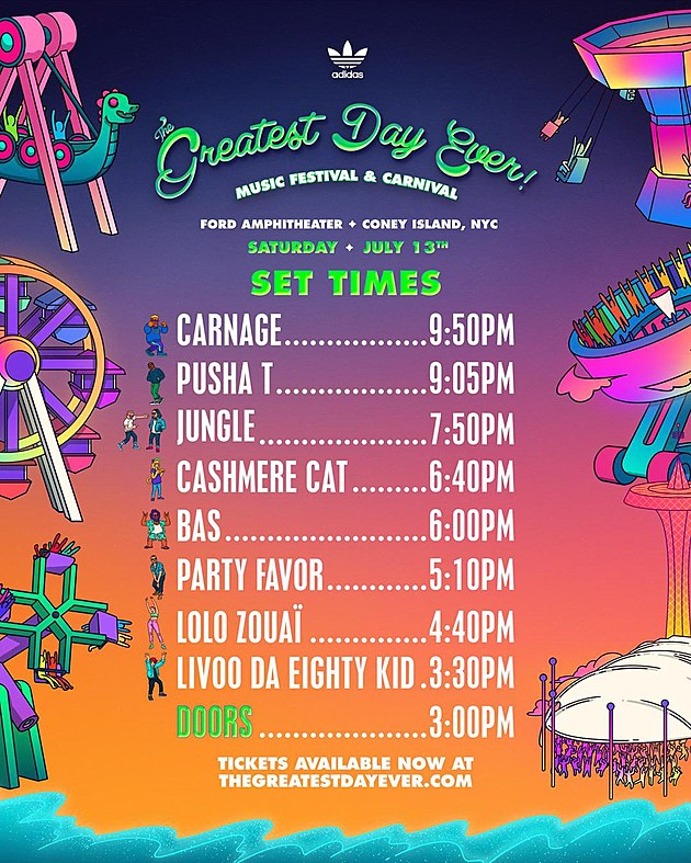 Greatest Day Ever reveals 2019 set times