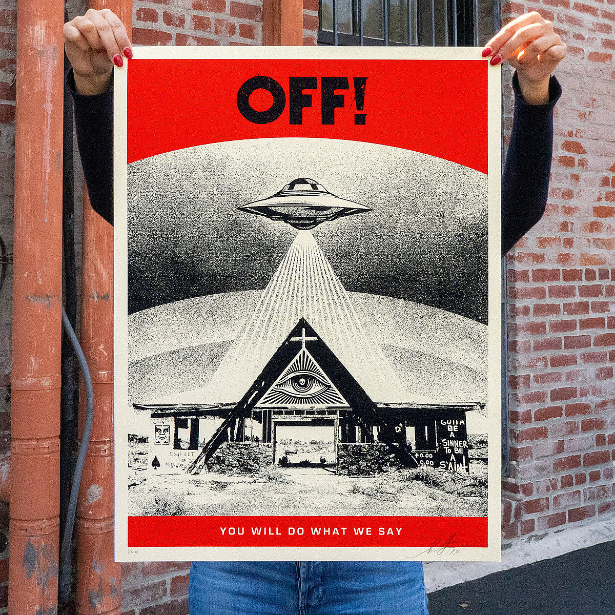 OFF! still making film; Shepard Fairey selling limited prints to help fund it