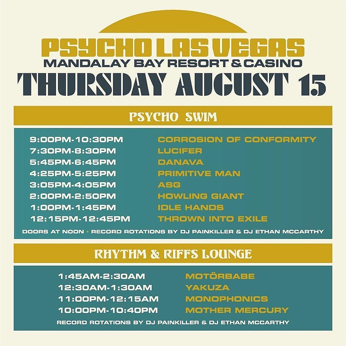 Psycho Las Vegas 2019 set times (Opeth vs. Power Trip other conflicts)