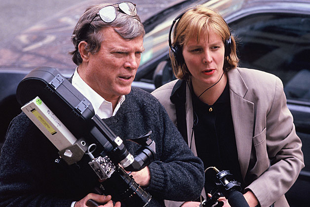 D.A. Pennebaker with wife and co-director Chris Hegedus (via Pennebaker Hegedus Films Facebook)