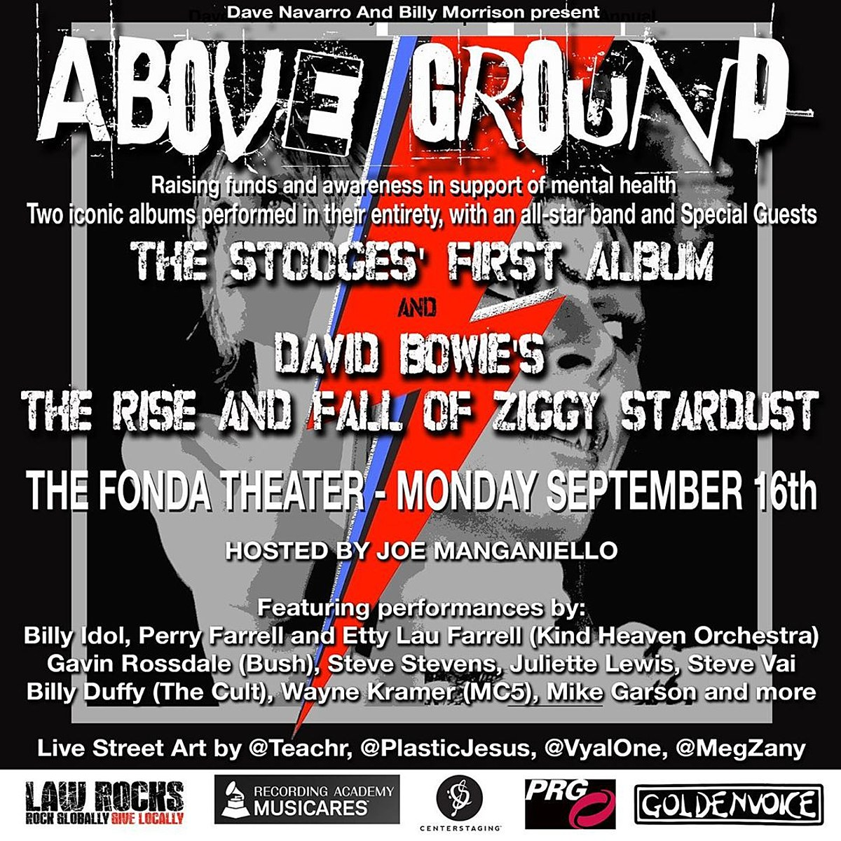 Dave Navarro, Billy Idol more performing Stooges Bowie albums at benefit show