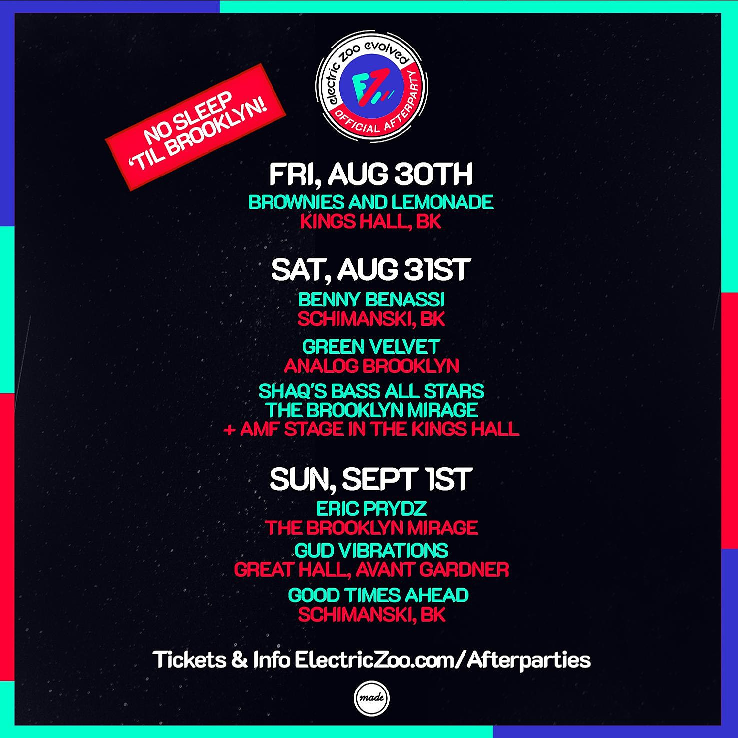 Electric Zoo Afterparties 2019