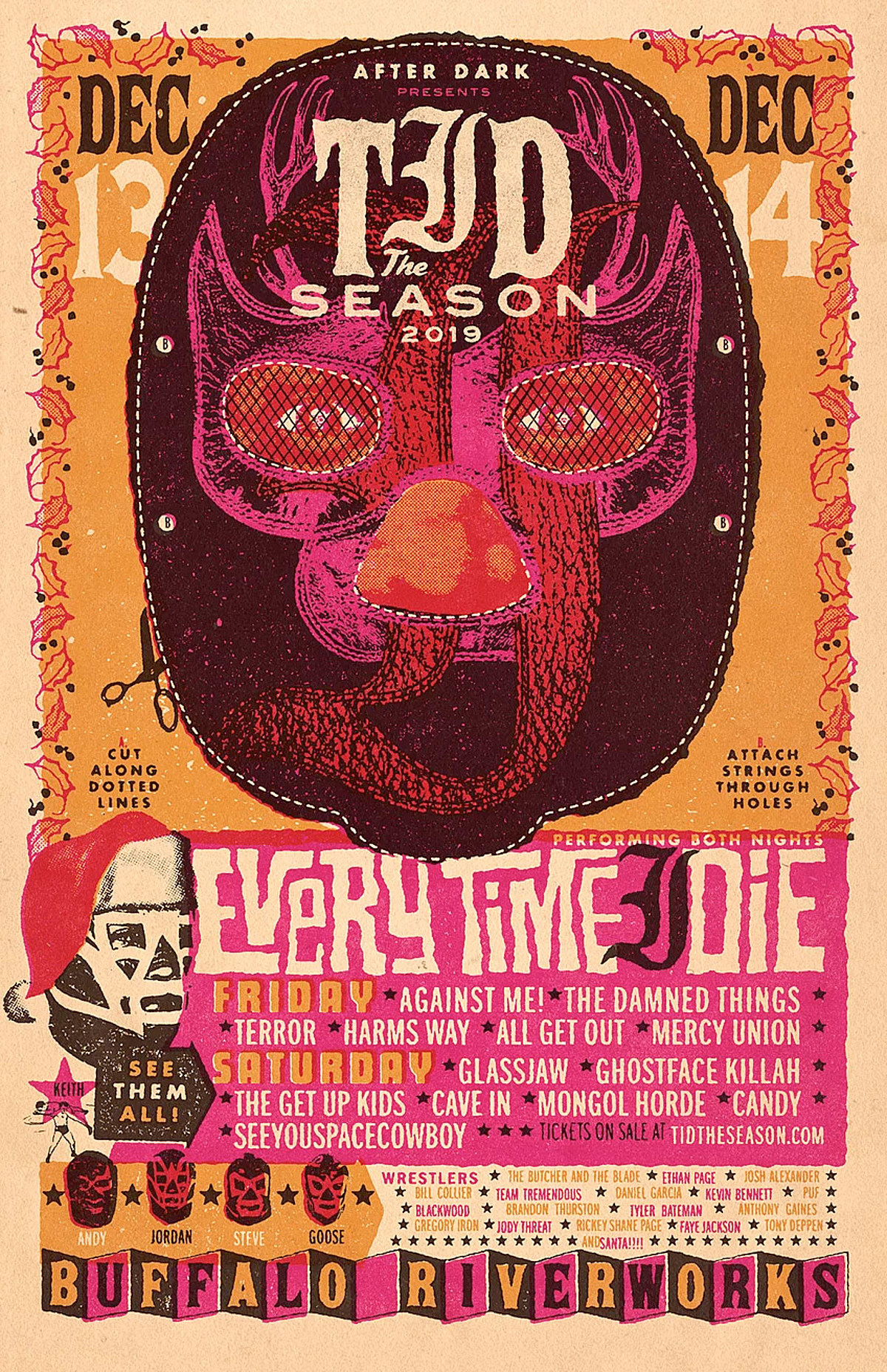 Every Time I Die 2019 holiday show: Against Me!, Cave In, Glassjaw, Ghostface, TGUK, more