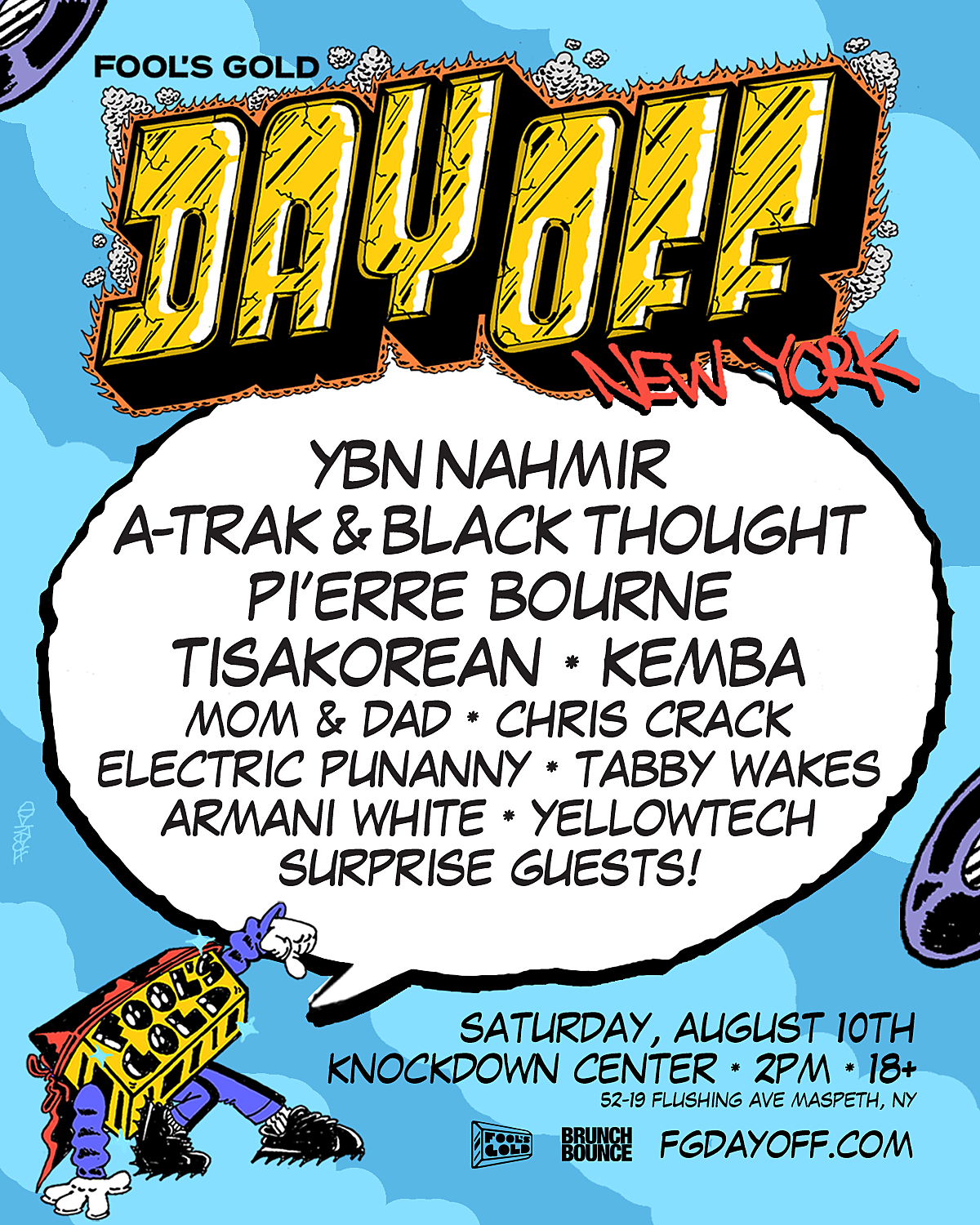 Fool's Gold Day Off NYC is this weekend with YBN Nahmir, A-Trak + Black Thought, and more