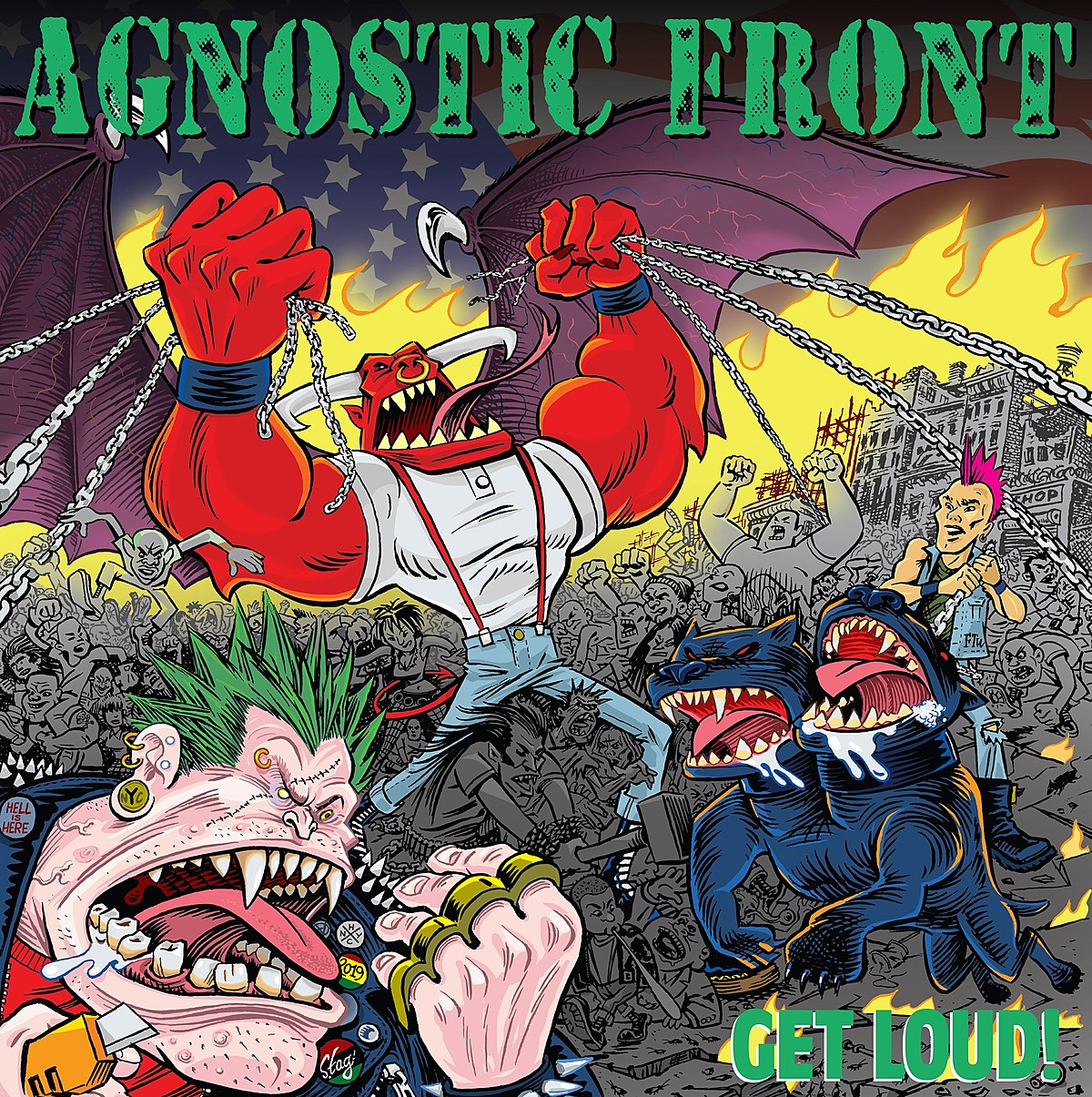 "Agnostic Front announce new LP 'GET LOUD!' – listen to ""Spray Painted Walls"""