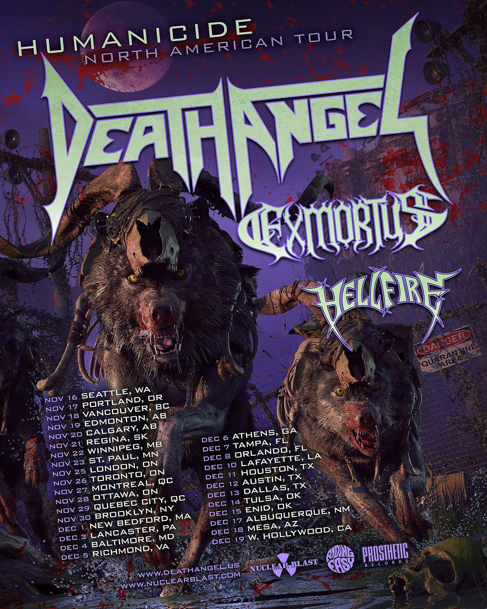 Death Angel announce North American tour with Exmortus and